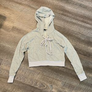 Crop Sweater with Hood